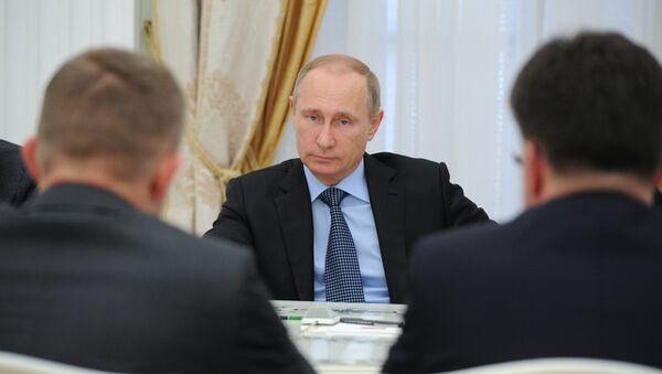 Setkání Vladimira Putina s Robertem Ficem - Sputnik Česká republika