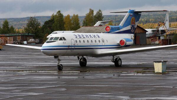Letadlo JAK-40 letecké společnosti Evenkija - Sputnik Česká republika
