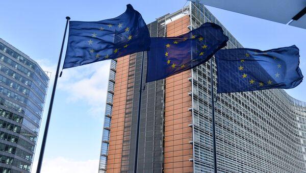 Vlajky EU v Bruselu. Ilustrační foto - Sputnik Česká republika