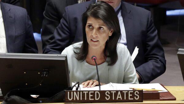 Stálá zástupkyně USA při OSN Nikky Haleyová - Sputnik Česká republika