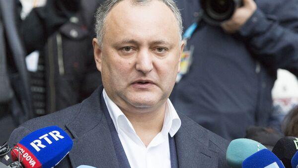 Prezident Moldavska Igor Dodon - Sputnik Česká republika