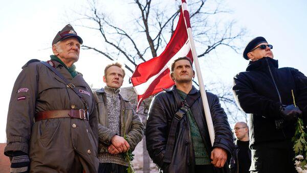 Pochod veteránů Waffen SS Rigou - Sputnik Česká republika