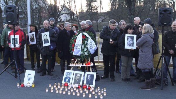 Akce proti marši veteránů SS - Sputnik Česká republika