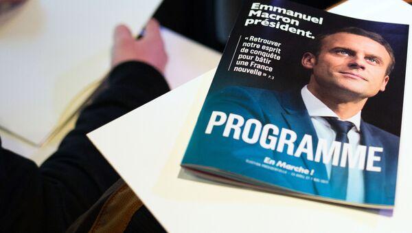 Kandidát na prezidenta Francie, bývalý ministr hospodářství Emmanuel Macron - Sputnik Česká republika