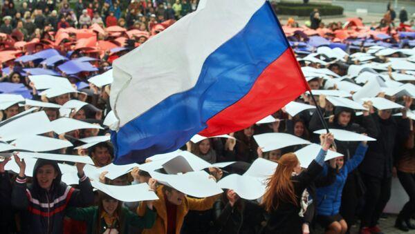 Akce studentů na Krymu - Sputnik Česká republika
