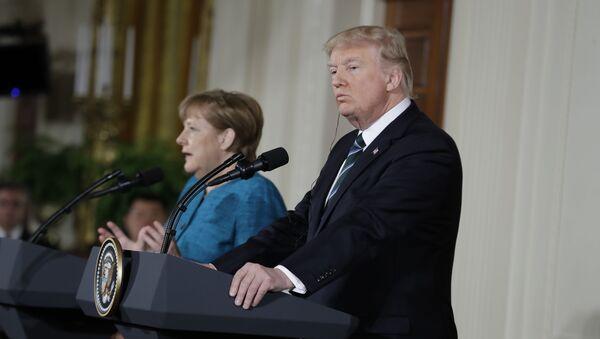 Schůzka Donalda Trumpa a Angely Merkelové - Sputnik Česká republika