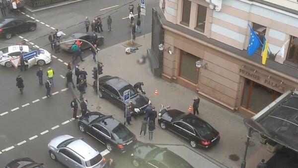 Záběry z místa vraždy Voroněnkova - Sputnik Česká republika