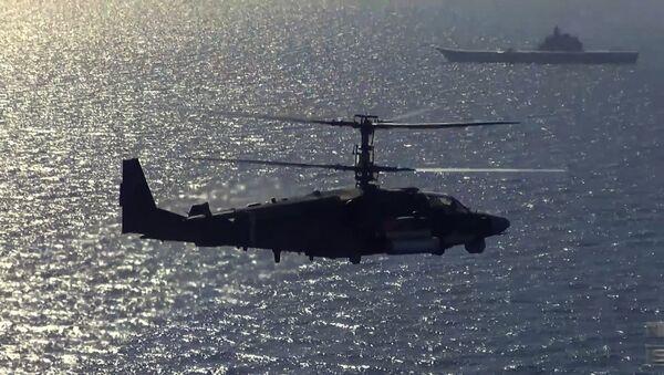 Lety a střelby vrtulníků Ka-52K a Ka-29 - Sputnik Česká republika