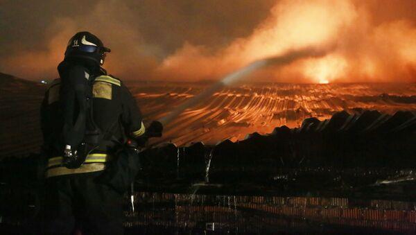 Požár v Moskvě (ilustrační foto) - Sputnik Česká republika