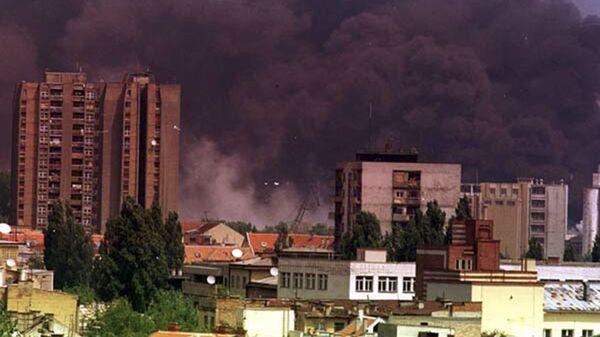 Jugoslavské město Novi Sad běhěm bombardování letectvem NATO. Archivní foto - Sputnik Česká republika