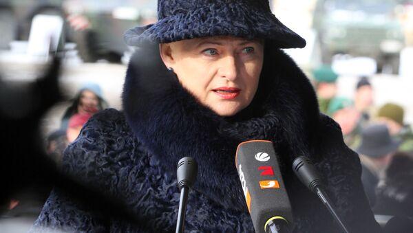 Litevská prezidentka Dalia Grybauskaitéová - Sputnik Česká republika