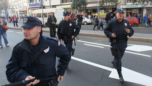 Srbská policie v Bělehradě. Archivní foto - Sputnik Česká republika