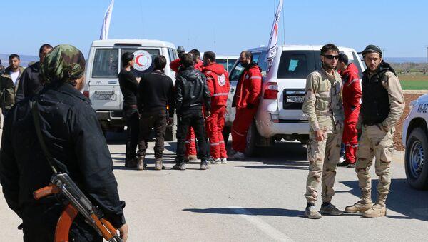 Odchod ozbrojenců z předměstí Homsu - Sputnik Česká republika