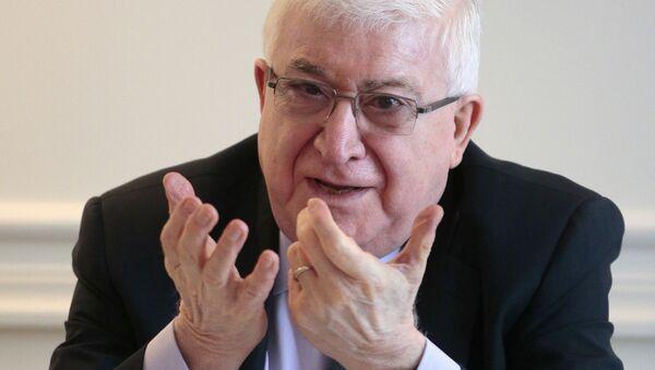 Irácký prezident Fuád Masúm - Sputnik Česká republika