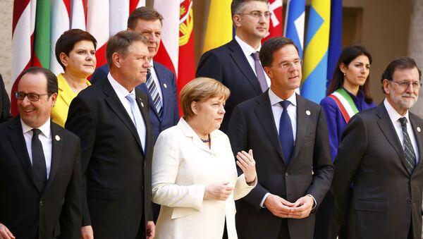 Lídři EU během Římského summitu - Sputnik Česká republika