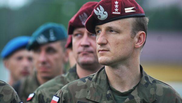 Polští vojáci během cvičení Rapid trident 2016 - Sputnik Česká republika