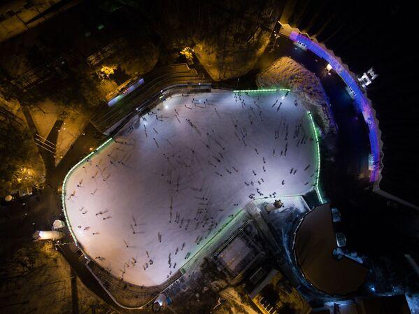 Mrazivá Moskva z ptačí perspektivy - Sputnik Česká republika