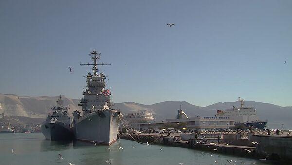 Připlutí bojových tureckých lodí do Novorossijsku - Sputnik Česká republika