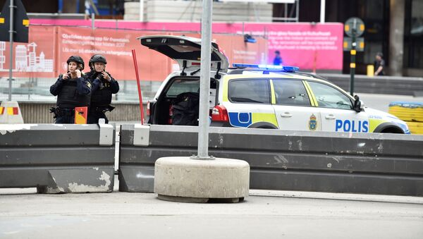 Policie v centru Stockholmu - Sputnik Česká republika