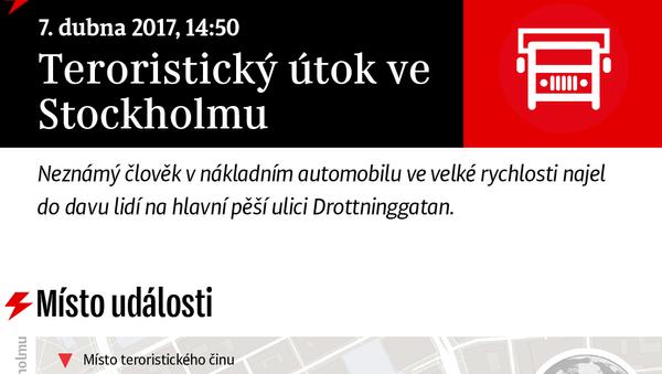 Teroristický útok ve Stockholmu - Sputnik Česká republika