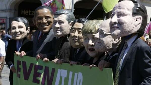 Protestní akce proti summitu G7 v Mnichově - Sputnik Česká republika