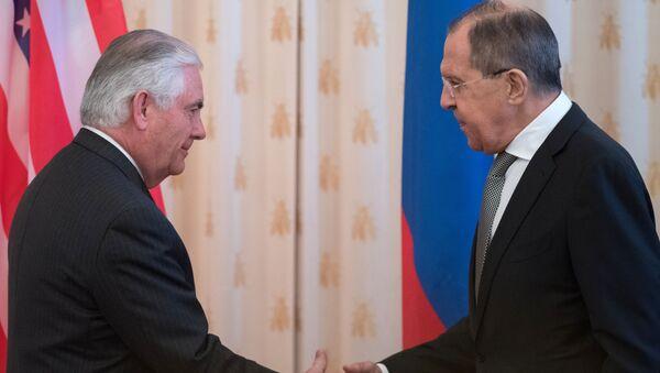 Sergej Lavrov a Rex Tillerson - Sputnik Česká republika