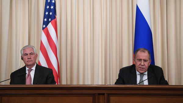 Tisková konference Sergeje Lavrova a Rexe Tillersona - Sputnik Česká republika
