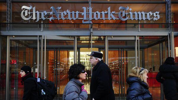 Redakce The New York Times v New Yorku - Sputnik Česká republika