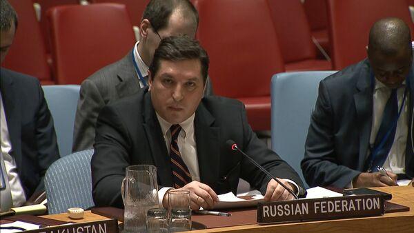 """""""Dívej se mi do očí"""": Safronkov odpověděl britskému velvyslanci při OSN - Sputnik Česká republika"""