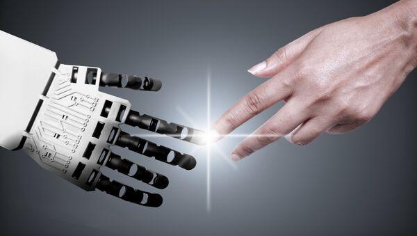 Ruce robota a člověka - Sputnik Česká republika