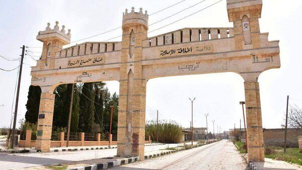 Ulice v syrském městě Dayr Hafir v provincii Aleppo - Sputnik Česká republika