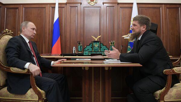 Schůzka Putina s Kadyrovem - Sputnik Česká republika