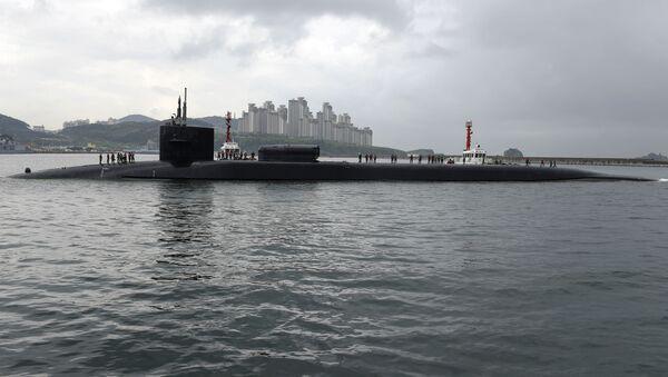Atomová ponorka USA Michigan v jihokorejském přístavu Pusan - Sputnik Česká republika