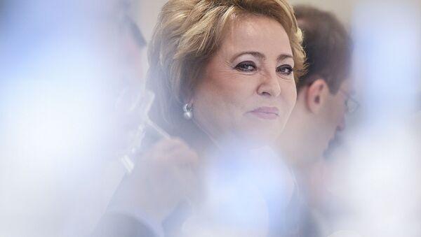 Předsedkyně Rady federace Valentina Matvijenková - Sputnik Česká republika