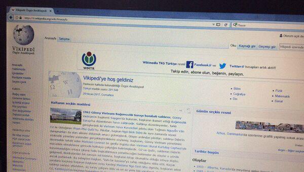 Stránka Wikipedie v turečtině - Sputnik Česká republika