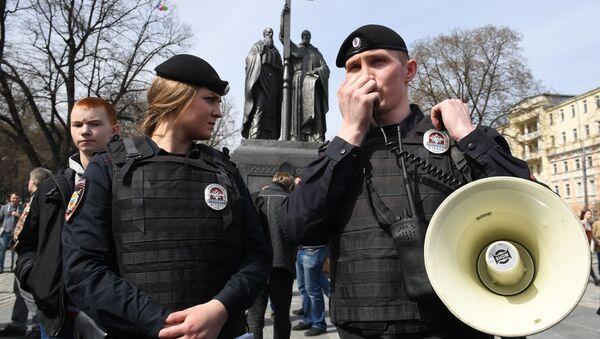 Policisté během akce Otevřené Rusko v Moskvě - Sputnik Česká republika