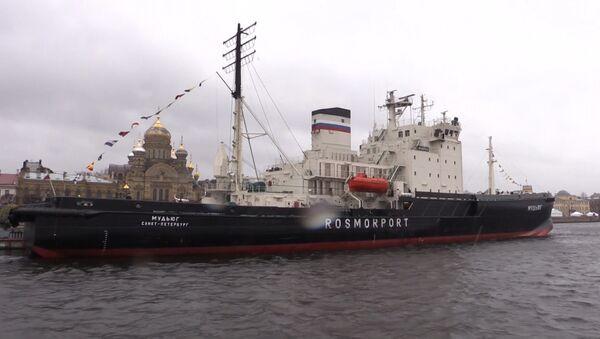 Přehlídka mořských obrů: festival ledoborců v Petrohradě - Sputnik Česká republika