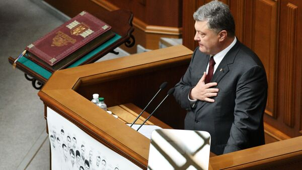 Prezident Ukrajiny Petro Porošenko - Sputnik Česká republika