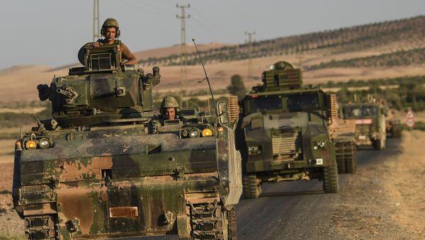 Turečtí vojáci na syrsko-turecké hranici - Sputnik Česká republika