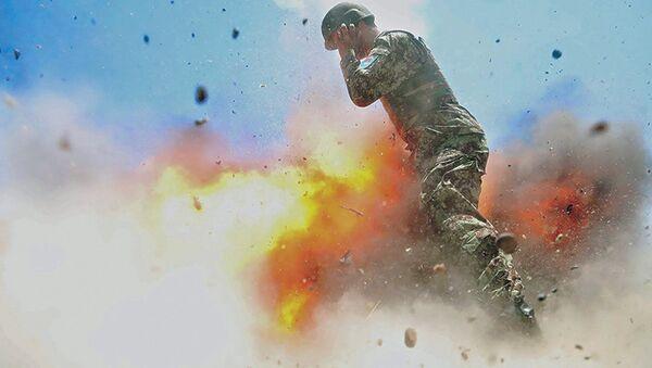 Snímek exploze, v důsledku které zahynula americká fotografka - Sputnik Česká republika