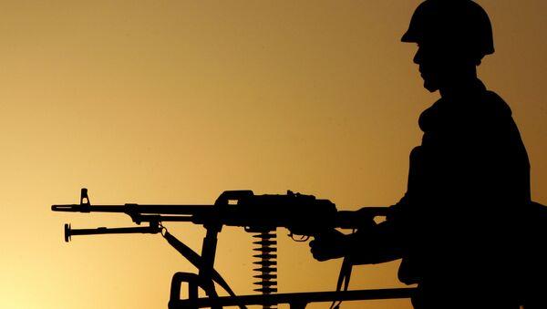 Turecký voják na hranici s Íránem - Sputnik Česká republika