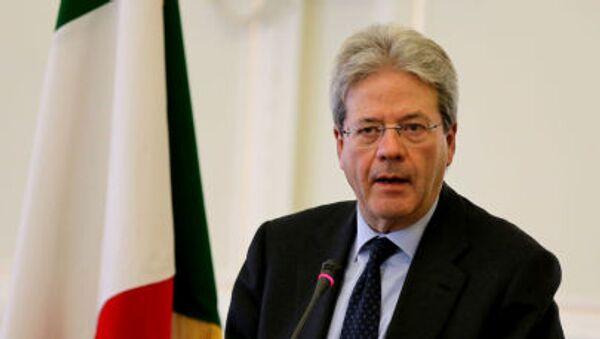 Italský premiér Paolo Gentiloni - Sputnik Česká republika