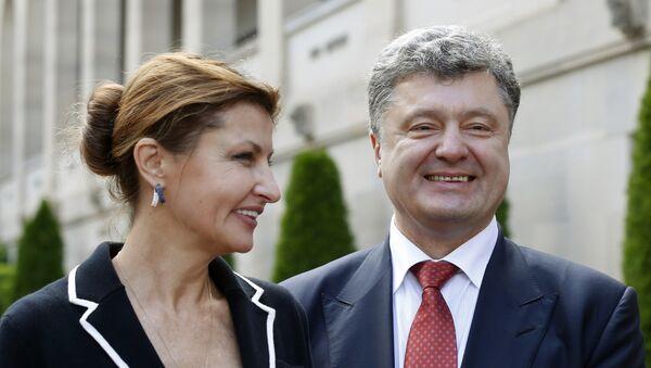 Ukrajinský prezident Petro Porošenko a jeho maželka Marina - Sputnik Česká republika