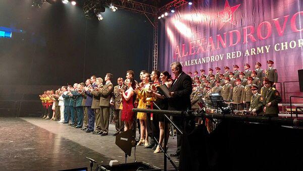 Akademický armádní Alexandrovův soubor během turné v ČR - Sputnik Česká republika