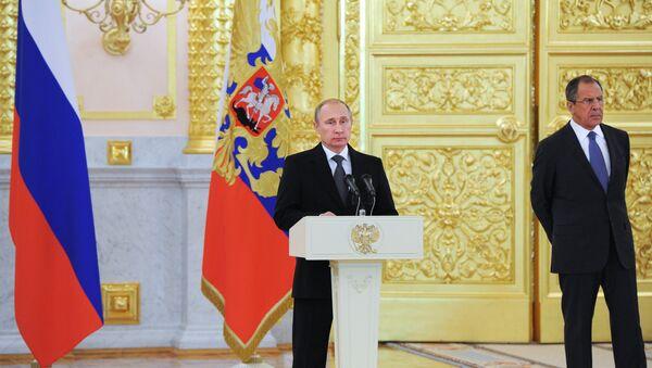 Vladimir Putin a Sergej Lavrov - Sputnik Česká republika