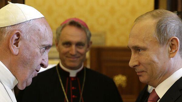 Vladimir Putin a papež František - Sputnik Česká republika