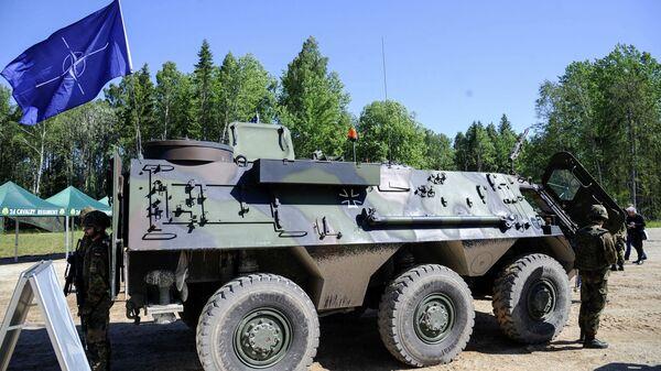 Američtí vojáci během cvičení Saber Strike v Estonsku (ilustrační foto) - Sputnik Česká republika