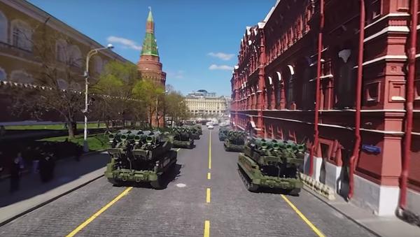 MO uveřejnilo panoramatické video zkoušky Přehlídky vítězství v Moskvě - Sputnik Česká republika