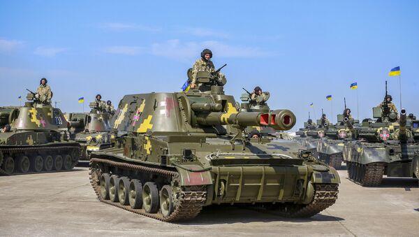 Ukrajinský tank T-80 - Sputnik Česká republika
