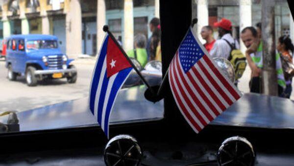Vlajky Kuby a USA - Sputnik Česká republika